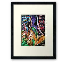 CHIEF - acrylic, paper 22 x 28'' Framed Print