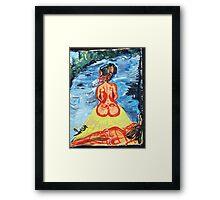 WOMEN ON A JOURNEY - acrylic, tempera, paper 18 x 24 Framed Print