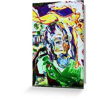 DESERT ANGEL - acrylic, tempera, paper 18 x 24'' Greeting Card