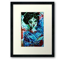 CHERRY BLOSSOM - acrylic, oil, canvas on board 18 x 24'' Framed Print