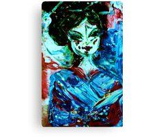 CHERRY BLOSSOM - acrylic, oil, canvas on board 18 x 24'' Canvas Print