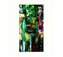 LOVE, AFFAIR AND CREATOR - oil, canvas 24 x 48'' Art Print