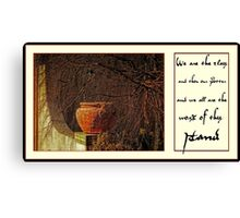 clay and potter Canvas Print