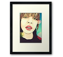 Hey Framed Print