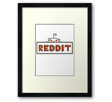 Reddit Sign Framed Print