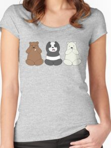 We Bare Wise Bears Women's Fitted Scoop T-Shirt
