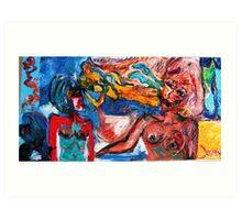 PREDICTION - oil, acrylic, canvas 24 x 48'' Art Print