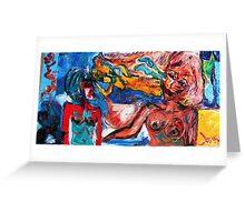 PREDICTION - oil, acrylic, canvas 24 x 48'' Greeting Card