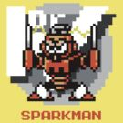 Spark Man with Orange Text by Funkymunkey