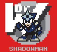 Shadow Man with Ice Blue Text by Funkymunkey