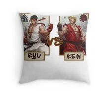 Street Fighter - Ryu vs Ken Throw Pillow