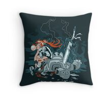 Cyberpunk Beatdown Throw Pillow