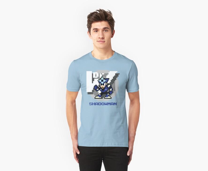 Shadow Man with Blue Text by Funkymunkey