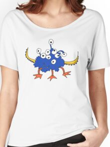 Blue Nine-Eyed Monster Women's Relaxed Fit T-Shirt