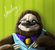 The Fanciest Sloth by theawkwardyeti