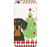 Dachshun Ugly Christmas Sweater iPhone Case/Skin