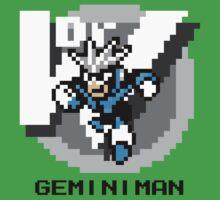 Gemini Man with Black Text by Funkymunkey