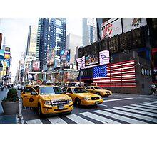 Yellow cabs Photographic Print