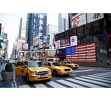 Yellow cabs Photographic Print