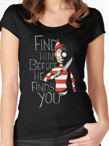 Hiding in the Dark Women's Fitted Scoop T-Shirt