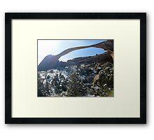 Landscape over Devils Garden Framed Print