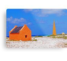 Bonaire Slave Huts Metal Print