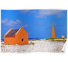 Bonaire Slave Huts Poster