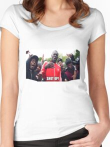 Stormzy Meme Shut up grime Women's Fitted Scoop T-Shirt