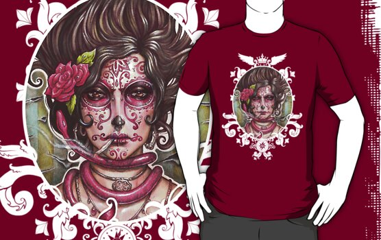 Catrina Colorada by Medusa Dollmaker