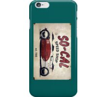 So Cal Speed Shop Sign iPhone Case/Skin