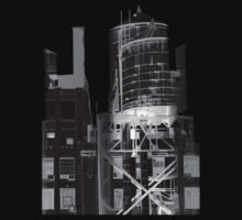 Depeche Mode : Delta Machine Paint cover - Only B&W Invert - water tower 2 by Luc Lambert