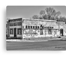 Tracing Pueblo's History Black and White Canvas Print