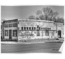 Tracing Pueblo's History Black and White Poster