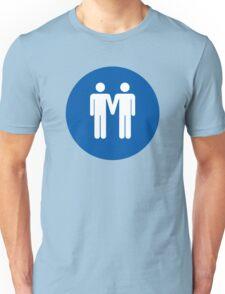 Man on Man Love in Blue Unisex T-Shirt