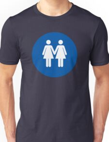 Woman on Woman Love in Blue Unisex T-Shirt