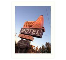 Cozy Cone Motel Sign Art Print