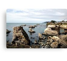 San Luis Obispo Ocean View w/rock's Canvas Print