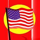 Rippling American Flag, Iphone by Carolyn Clark