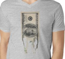 Abstract Dinero Mens V-Neck T-Shirt