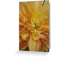 Dahlia, abstract golden peach Greeting Card