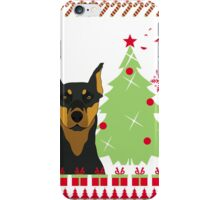 Dorberman Ugly Christmas Sweater iPhone Case/Skin