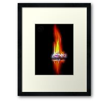 ©NS The Flame Framed Print