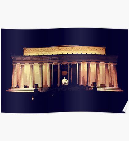 Lincoln Memorial Night Poster