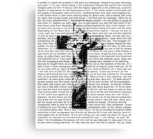 Cross Typography  Canvas Print