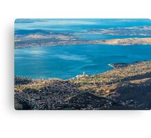Hobart from Mt. Wellington, Tasmania Canvas Print