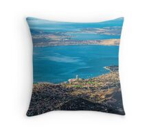 Hobart from Mt. Wellington, Tasmania Throw Pillow