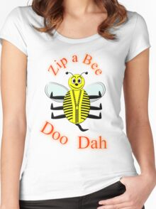 Zip a Bee Doo Dah T-shirt Women's Fitted Scoop T-Shirt