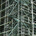 Scaffolding in Berlin by BurrowsImages