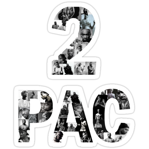 2 Pac In Letters by WeWantThat