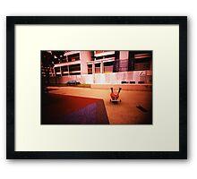 Abandoned Playground - Lomo Framed Print